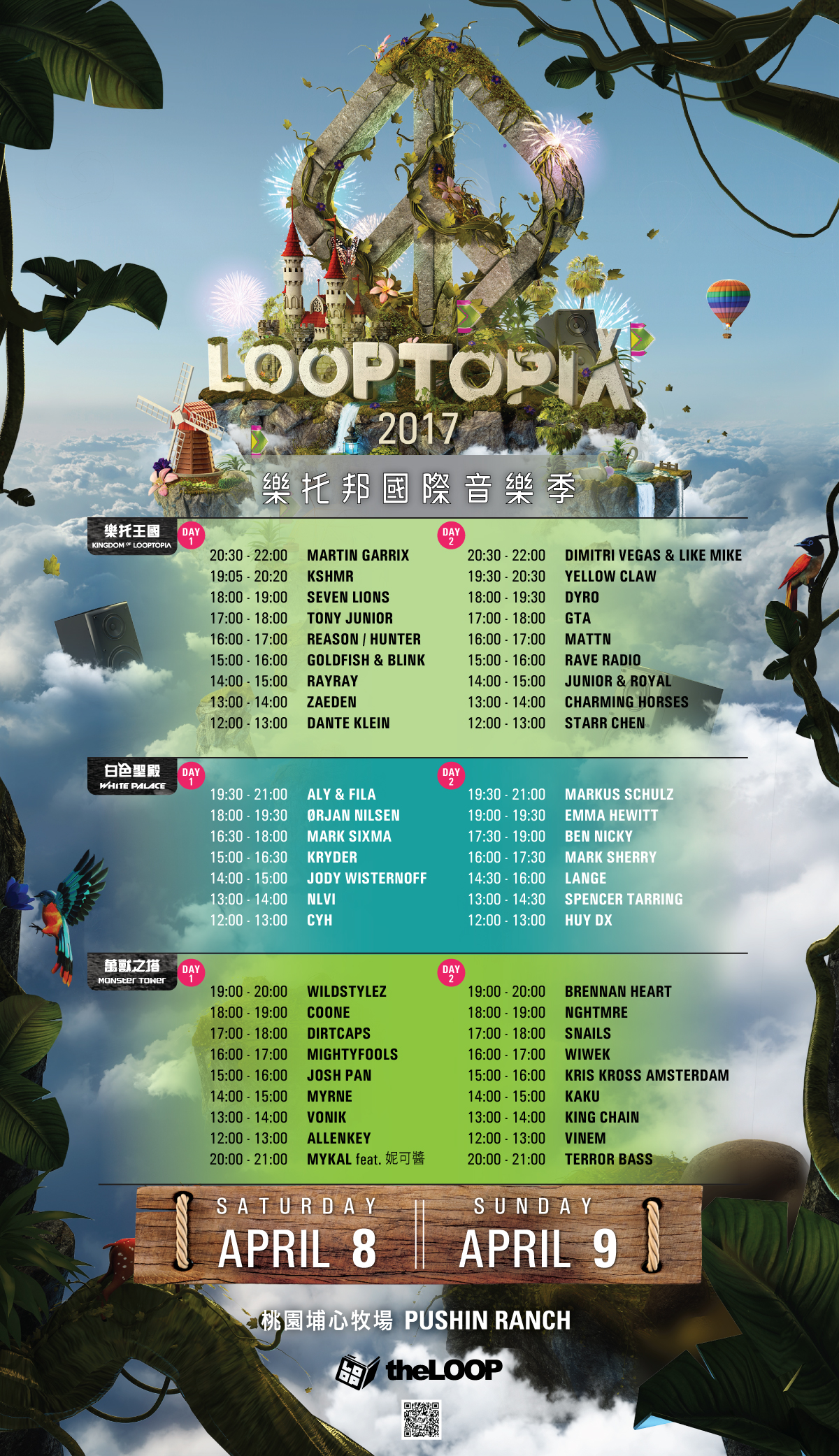 Looptopia_DJ_timetable